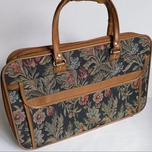 Vintage Floral Luggage Bag